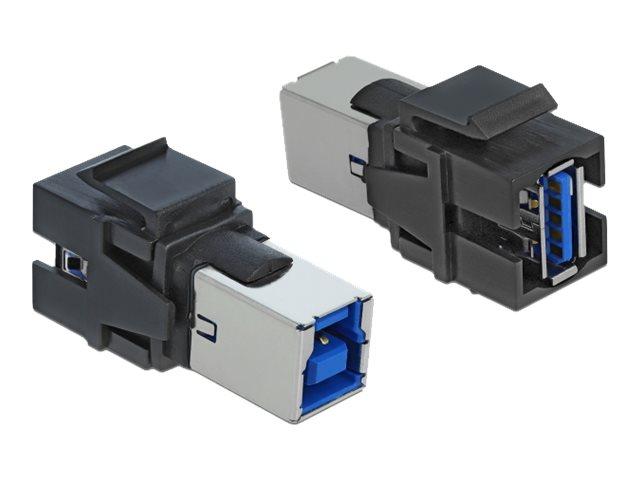 DeLOCK Keystone module - Modulare Eingabe - USB 3.0 Type A - Schwarz