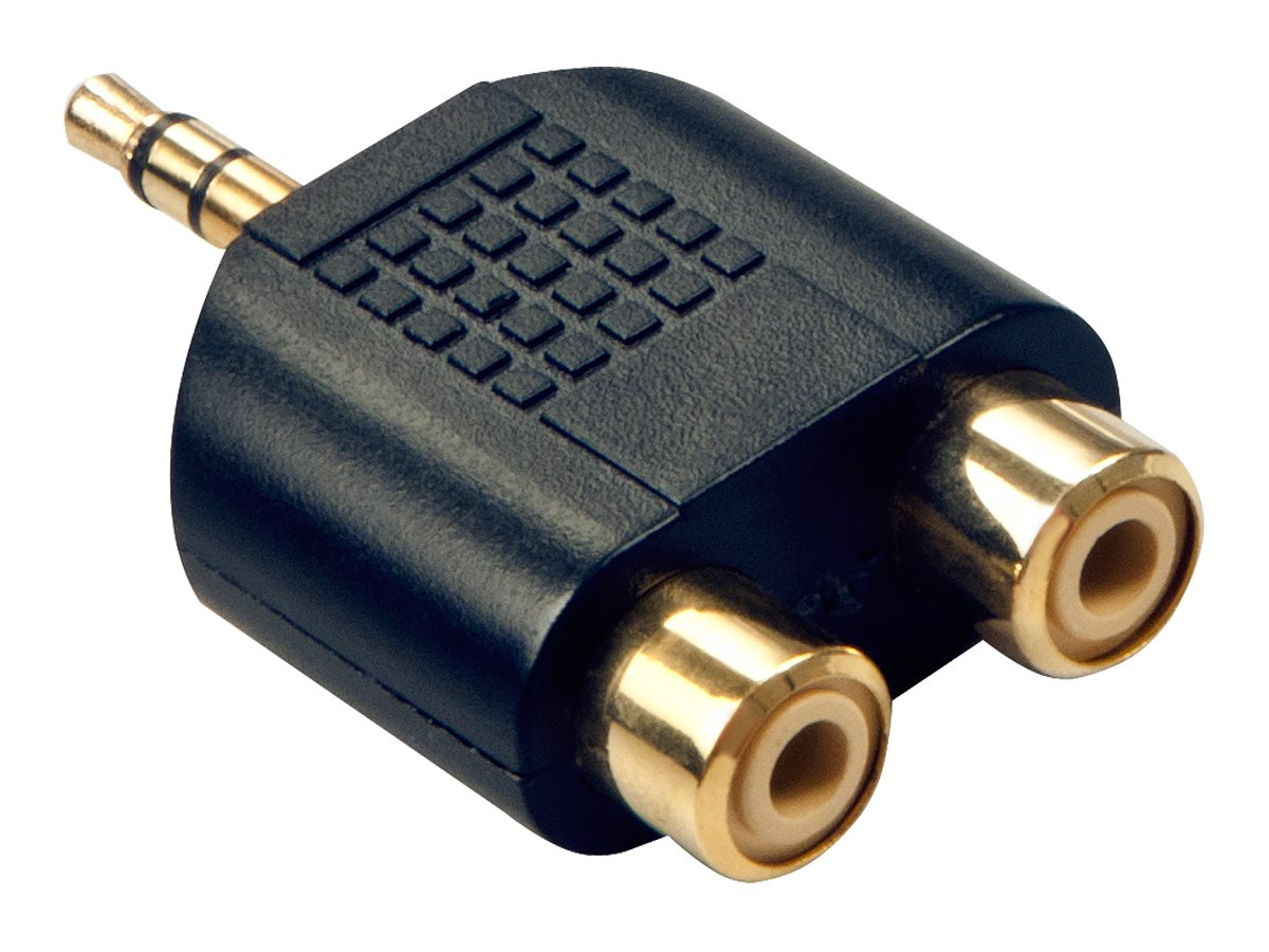 Lindy Stereo Audio Adapter - Audio-Adapter - RCA x 2 (W) bis Stereo Mini-Klinkenstecker (M)