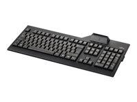 Fujitsu KB 100 SCR - Tastatur - USB - Deutsch - Schwarz - für Celsius J550, M7010, M770, R970, W580; ESPRIMO P558, Q958; FUTRO S