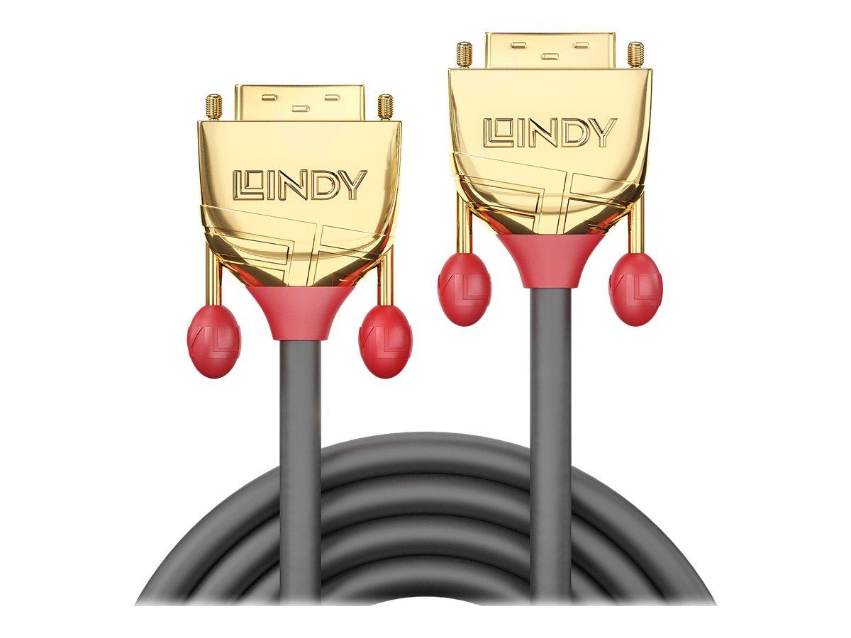 Lindy Gold - DVI-Kabel - Dual Link - DVI-D (M) bis DVI-D (M) - 15 m - Daumenschrauben