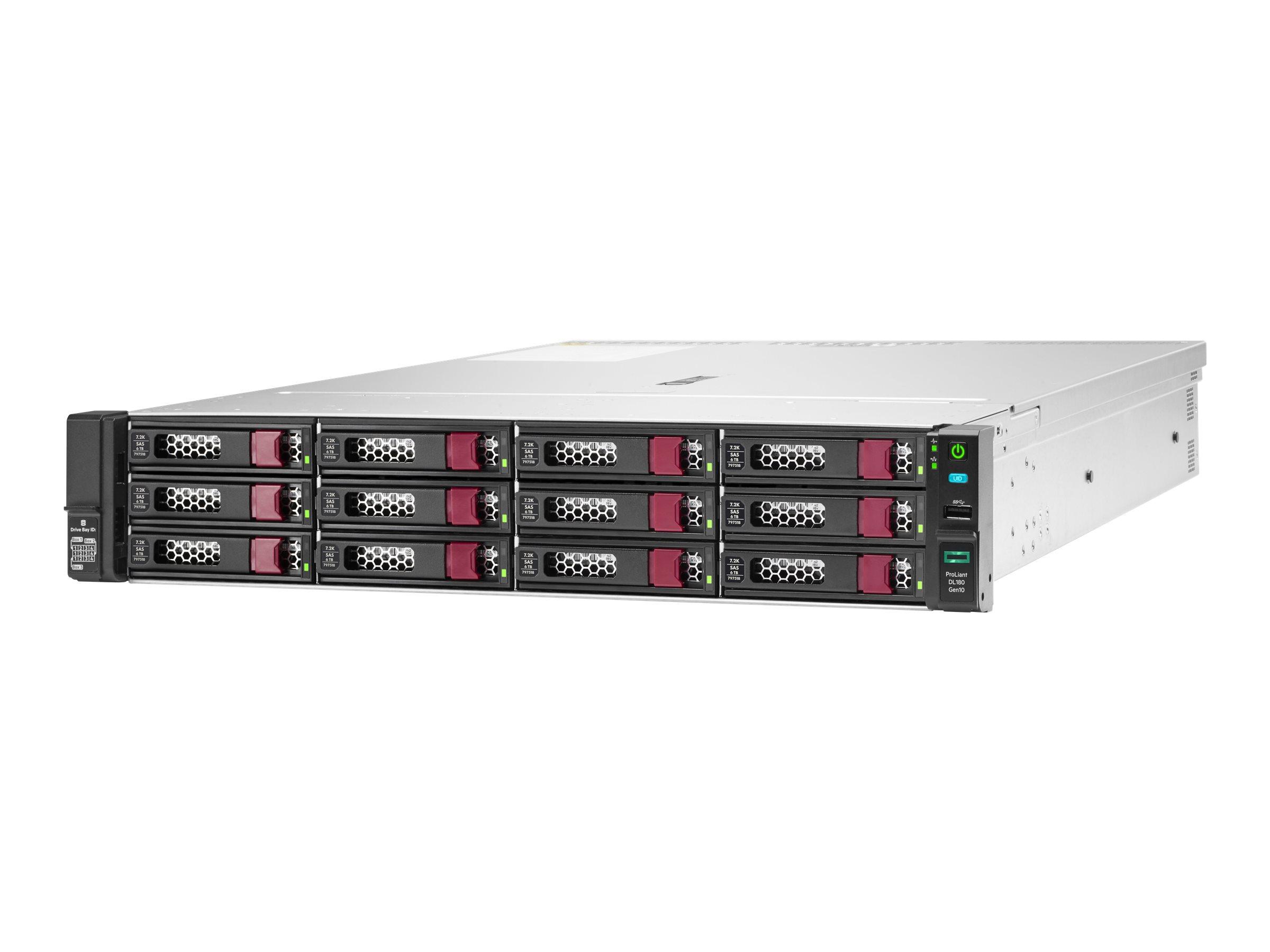 HPE ProLiant DL180 Gen10 SMB - Server - Rack-Montage - 2U - zweiweg - 1 x Xeon Silver 4208 / 2.1 GHz