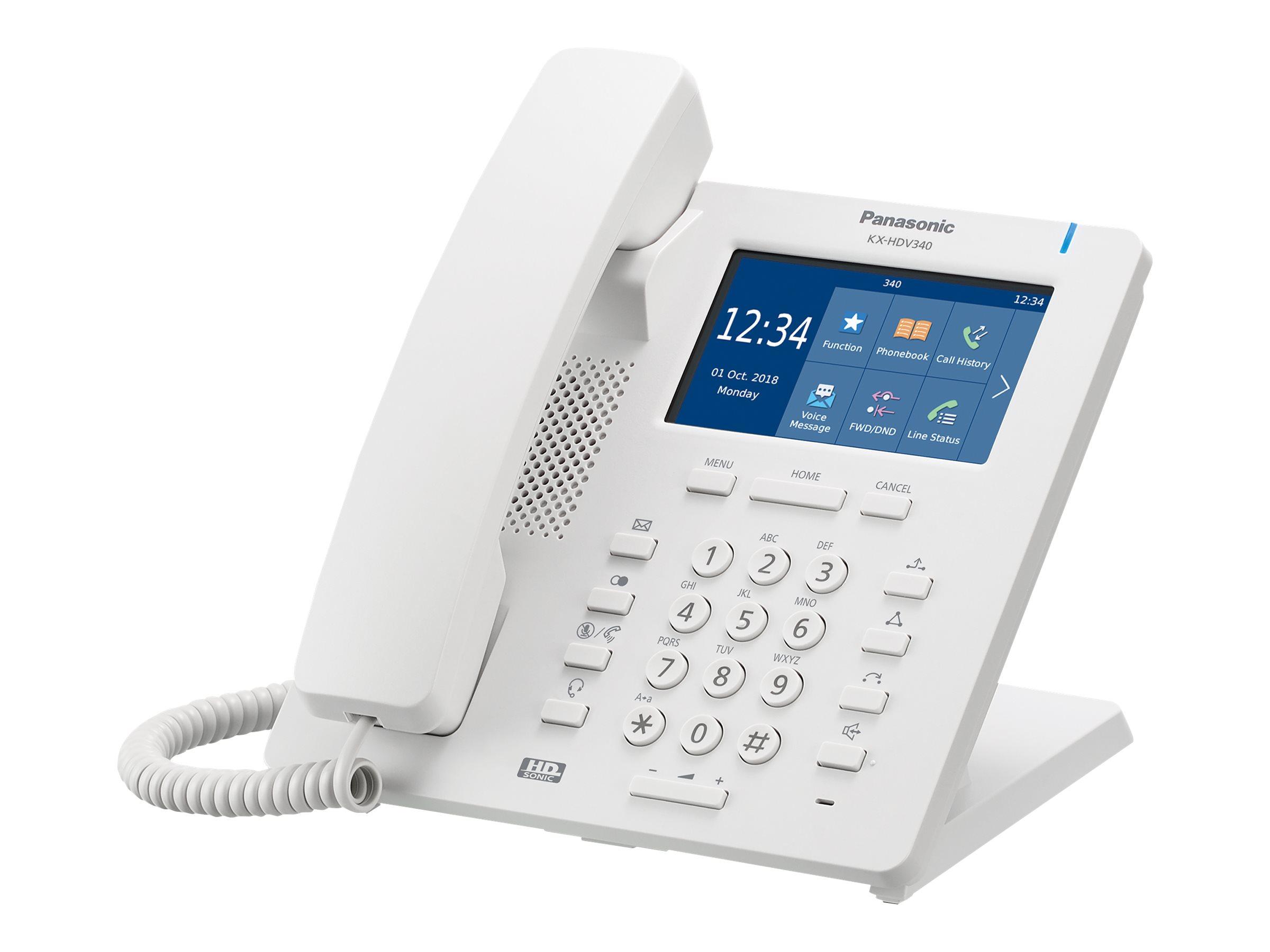 Panasonic KX-HDV340 - VoIP-Telefon - mit Bluetooth-Schnittstelle - dreiweg Anruffunktion - SIP - 4 Leitungen