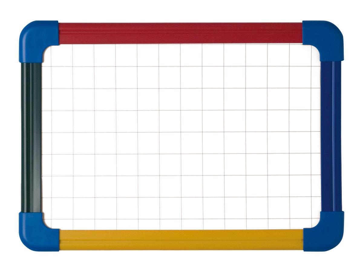 Bi-Office - Whiteboard - geeignet für Wandmontage - 210 x 297 mm - magnetisch - Kariert