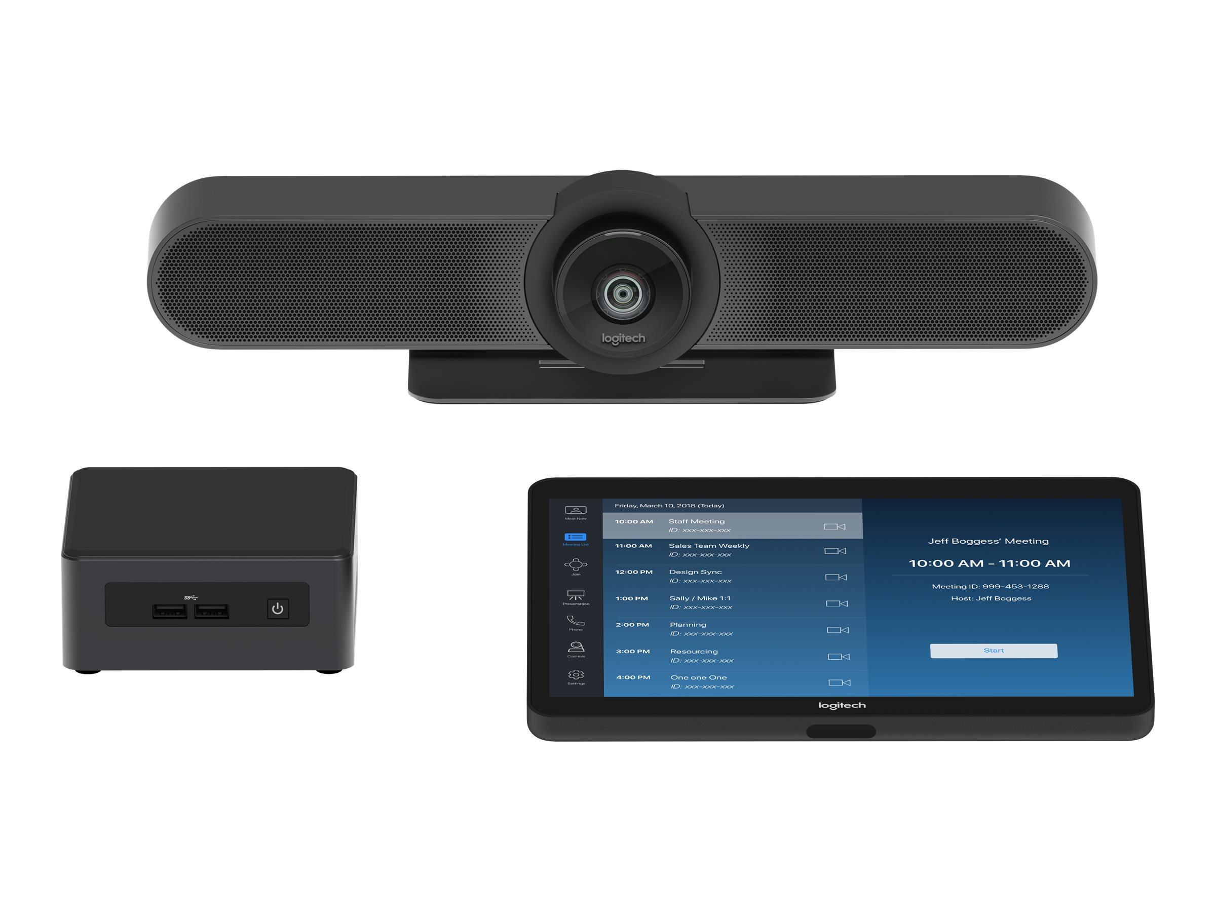 Logitech Tap Room for Zoom Rooms Small - Kit für Videokonferenzen - mit Intel NUC (i5-8259U, 8GB RAM, 240GB SSD)