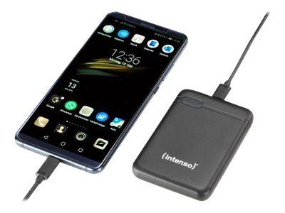 Intenso XS10000 - Powerbank - 10000 mAh - 3.1 A - 2 Ausgabeanschlussstellen (USB, USB-C) - Schwarz
