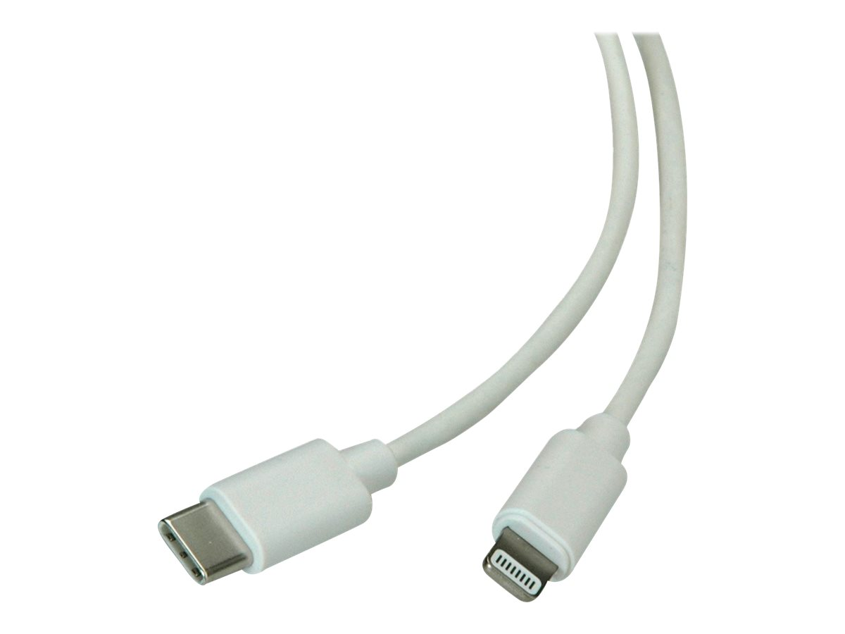Roline - Lightning-Kabel - USB-C (M) bis Lightning (M) - 1 m - weiss - für Apple iPad/iPhone/iPod (Lightning)