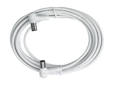 AXING BAK 153-00 - HF-Kabel - IEC-Anschluss (W) bis IEC-Anschluss (W) - 1.5 m - abgeschirmt - weiss
