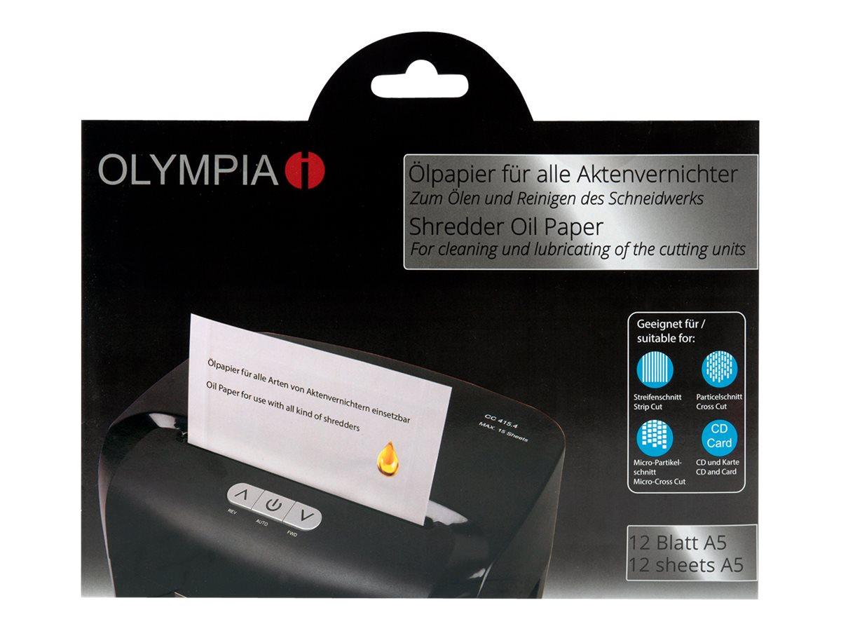 OLYMPIA - Aktenvernichter-Ölpapier (Packung mit 12)