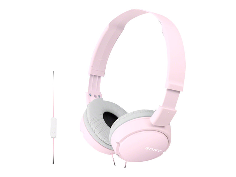 Sony MDR-ZX110AP - Kopfhörer mit Mikrofon - Full-Size - kabelgebunden - 3,5 mm Stecker - pink
