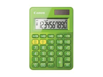 Canon LS-100K - Desktop-Taschenrechner - 10 Stellen - Solarpanel, Batterie - metallisch grün