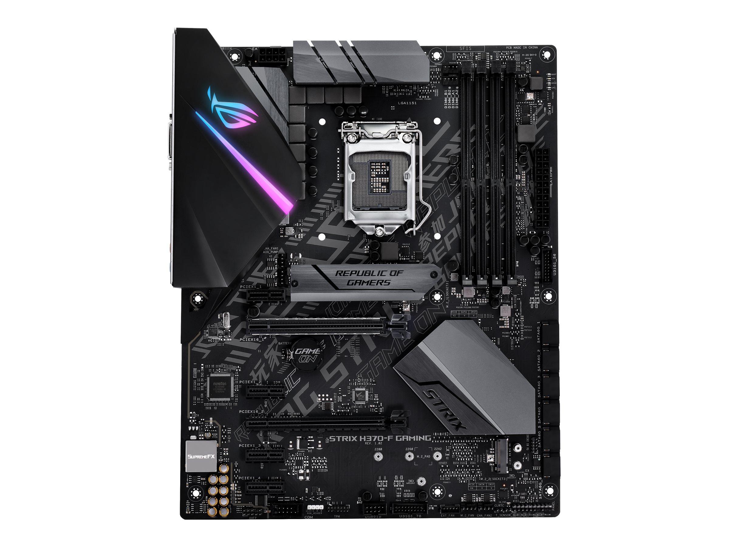 ASUS ROG STRIX H370-F GAMING - Motherboard - ATX - LGA1151 Socket - H370 - USB 3.1 Gen 1, USB-C Gen2, USB 3.1 Gen 2