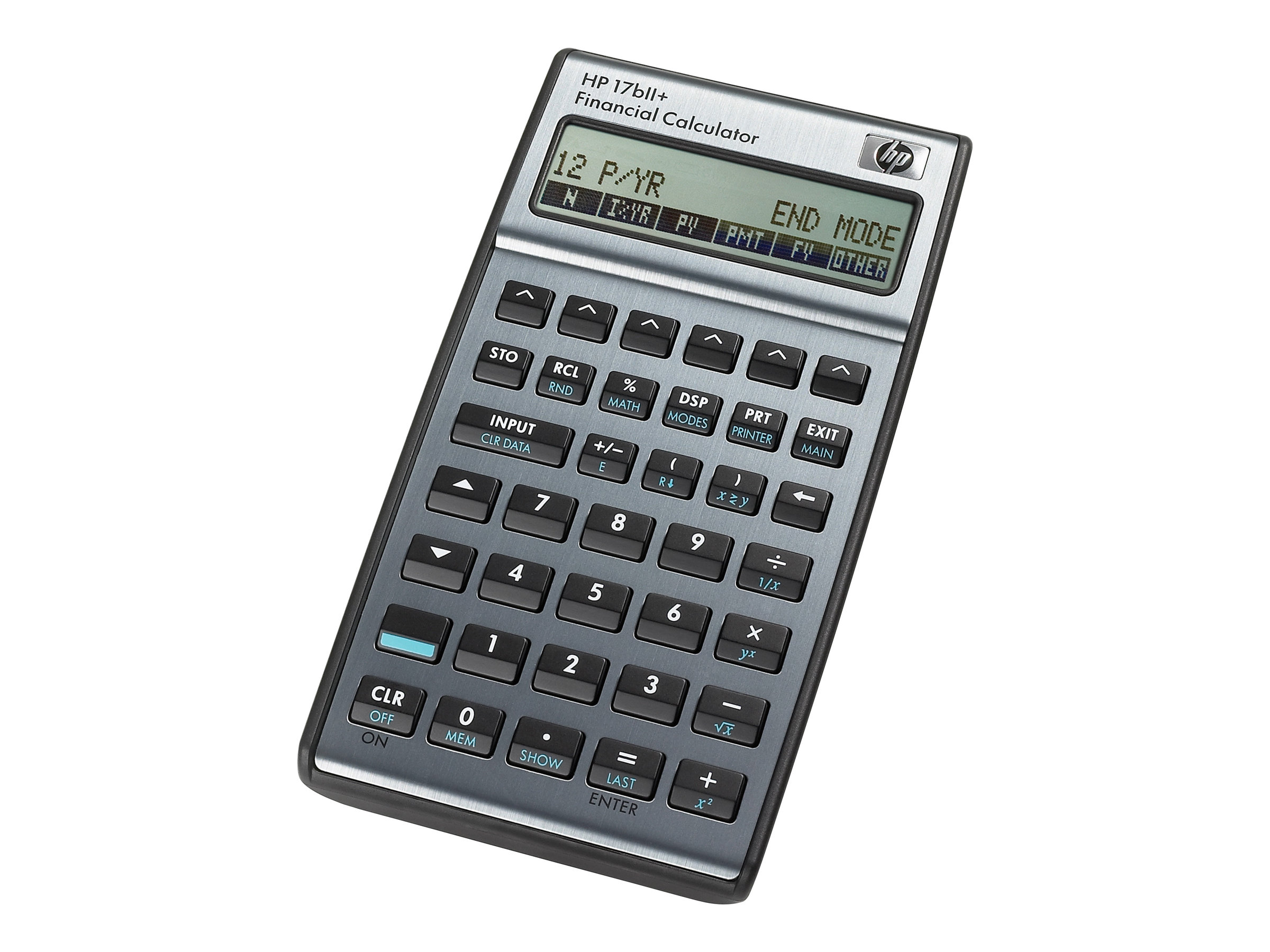 HP 17bII+ - Finanz-Taschenrechner - Batterie - Carbonite, Alloy Metallic
