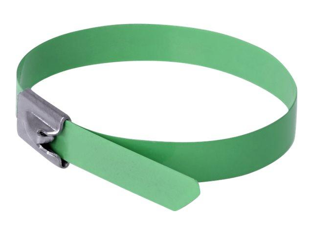 Delock - Kabelbinder - 20 cm - grün (Packung mit 10)