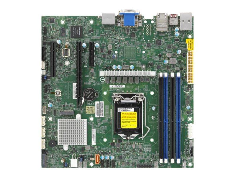 SUPERMICRO X12SCZ-F - Motherboard - micro ATX - LGA1200-Sockel - W480 - USB 3.2 Gen 2