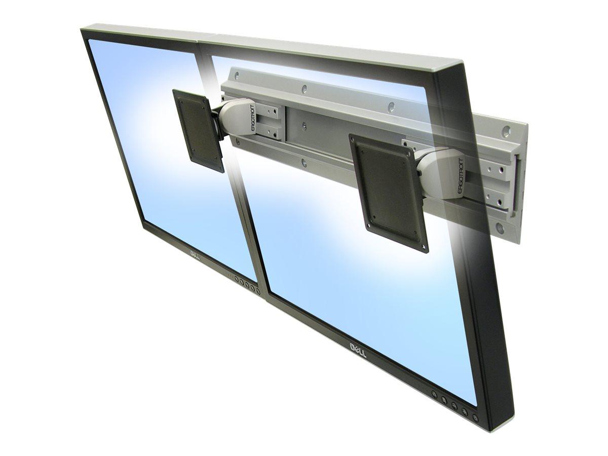 Ergotron Neo-Flex Dual Monitor Wall Mount - Befestigungskit für Dual-Flachbildschirm - Bildschirmgrösse: 61 cm (24