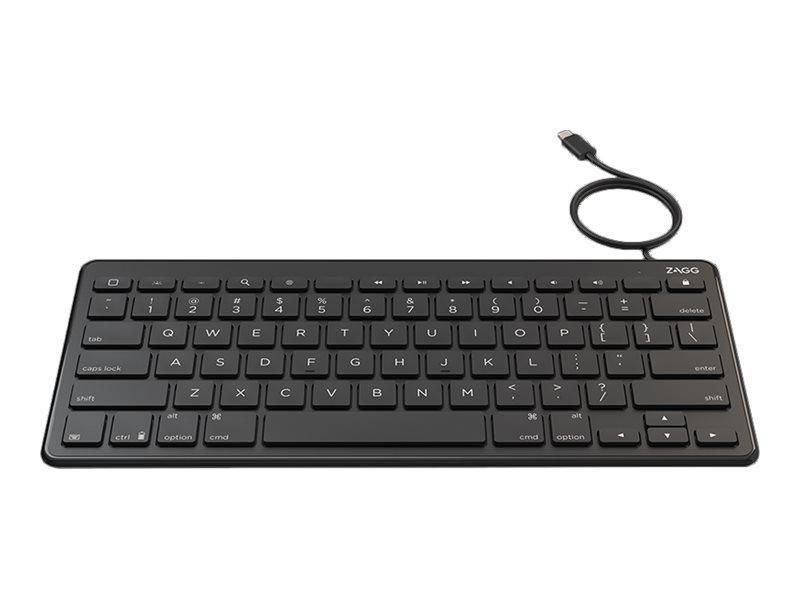 ZAGG Wired Lightning Keyboard - Tastatur - Apple Lightning Connector - Schweiz - Schwarz - für Apple iPad/iPhone/iPod (Lightning