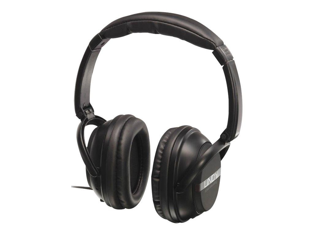 Lindy Active Noise Cancelling Headphones - Kopfhörer - Full-Size - kabelgebunden - aktive Rauschunterdrückung - 3,5 mm Stecker