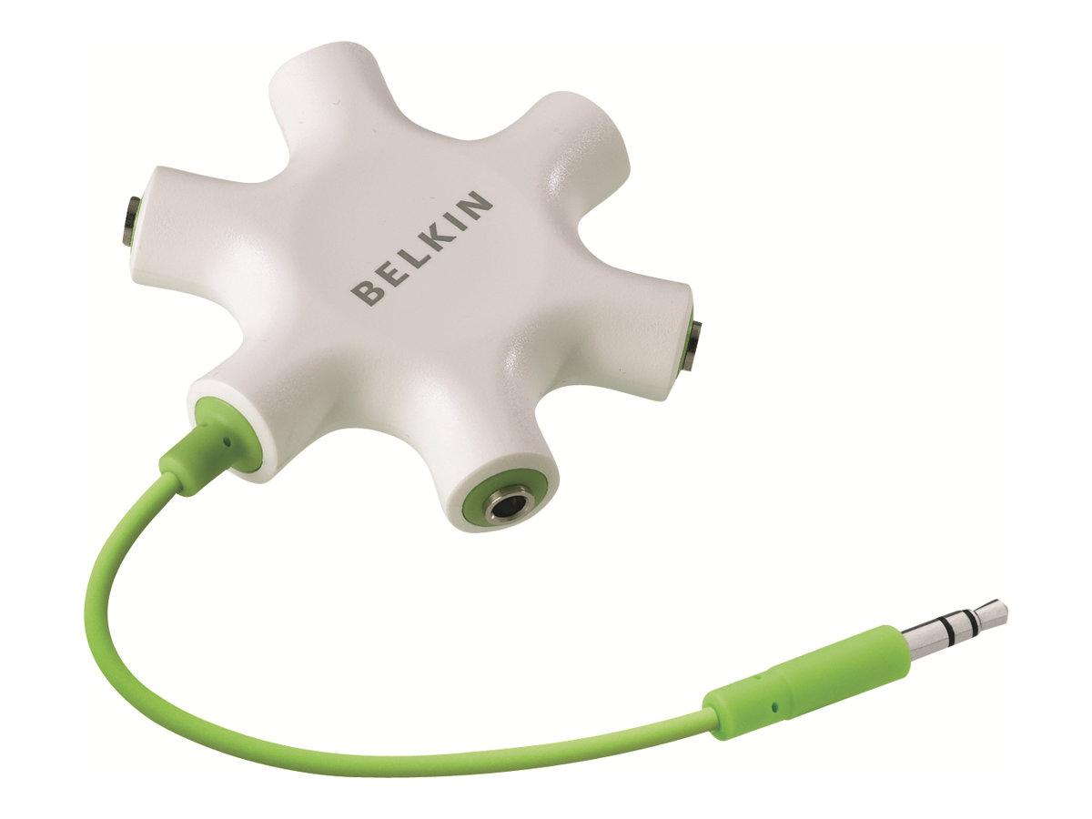 Belkin RockStar - Kopfhörer-Splitter - Stereo Mini-Klinkenstecker (M) bis Stereo Mini-Klinkenstecker (W) - Schwarz