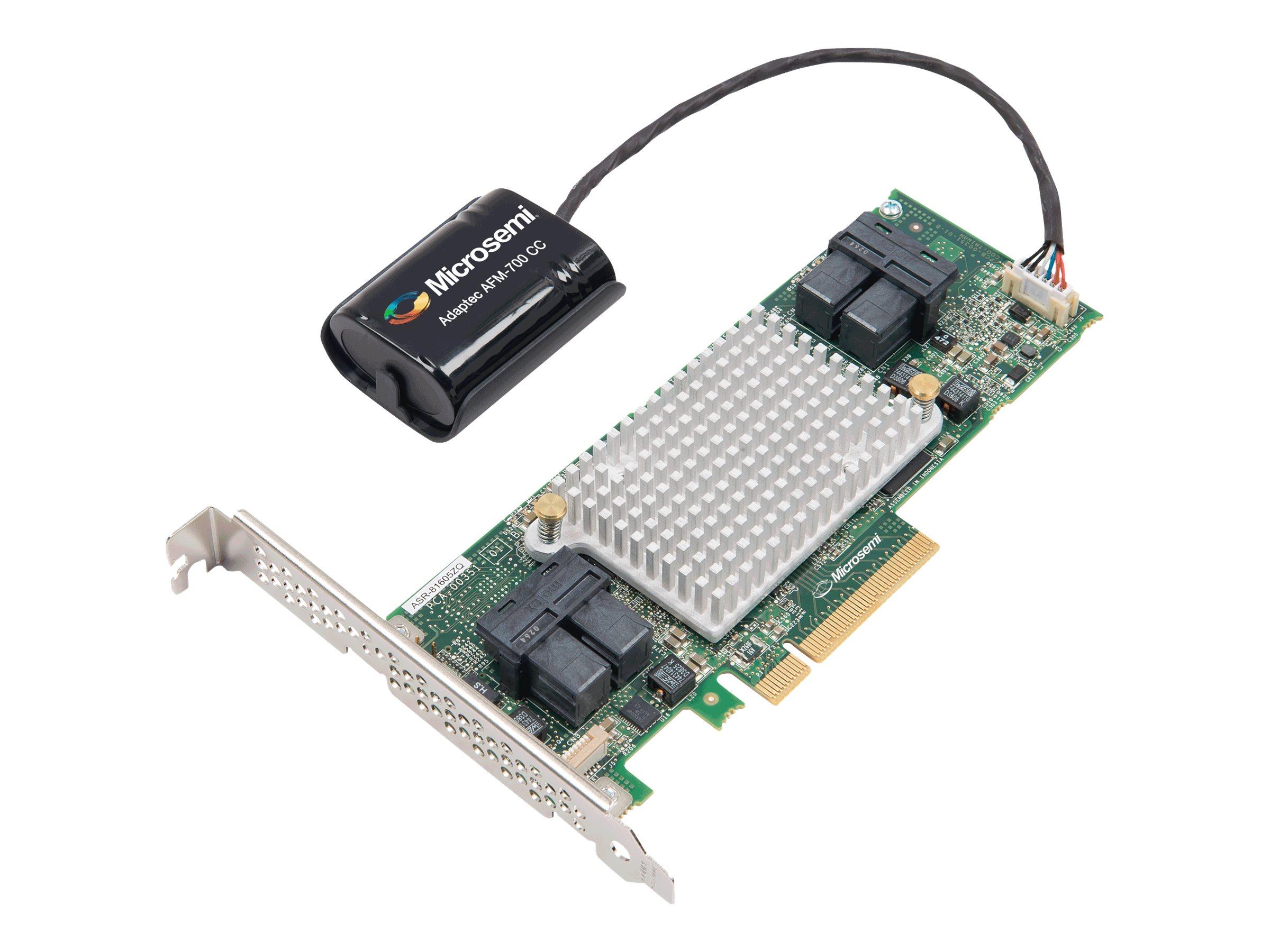 Microsemi Adaptec 81605ZQ - Speichercontroller (RAID) - 16 Sender/Kanal - SATA 6Gb/s / SAS 12Gb/s Low-Profile - 12 Gbit/s - RAID