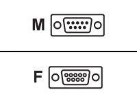 M-CAB - Kabel seriell - DB-9 (M) bis DB-9 (W) - 3 m - geformt