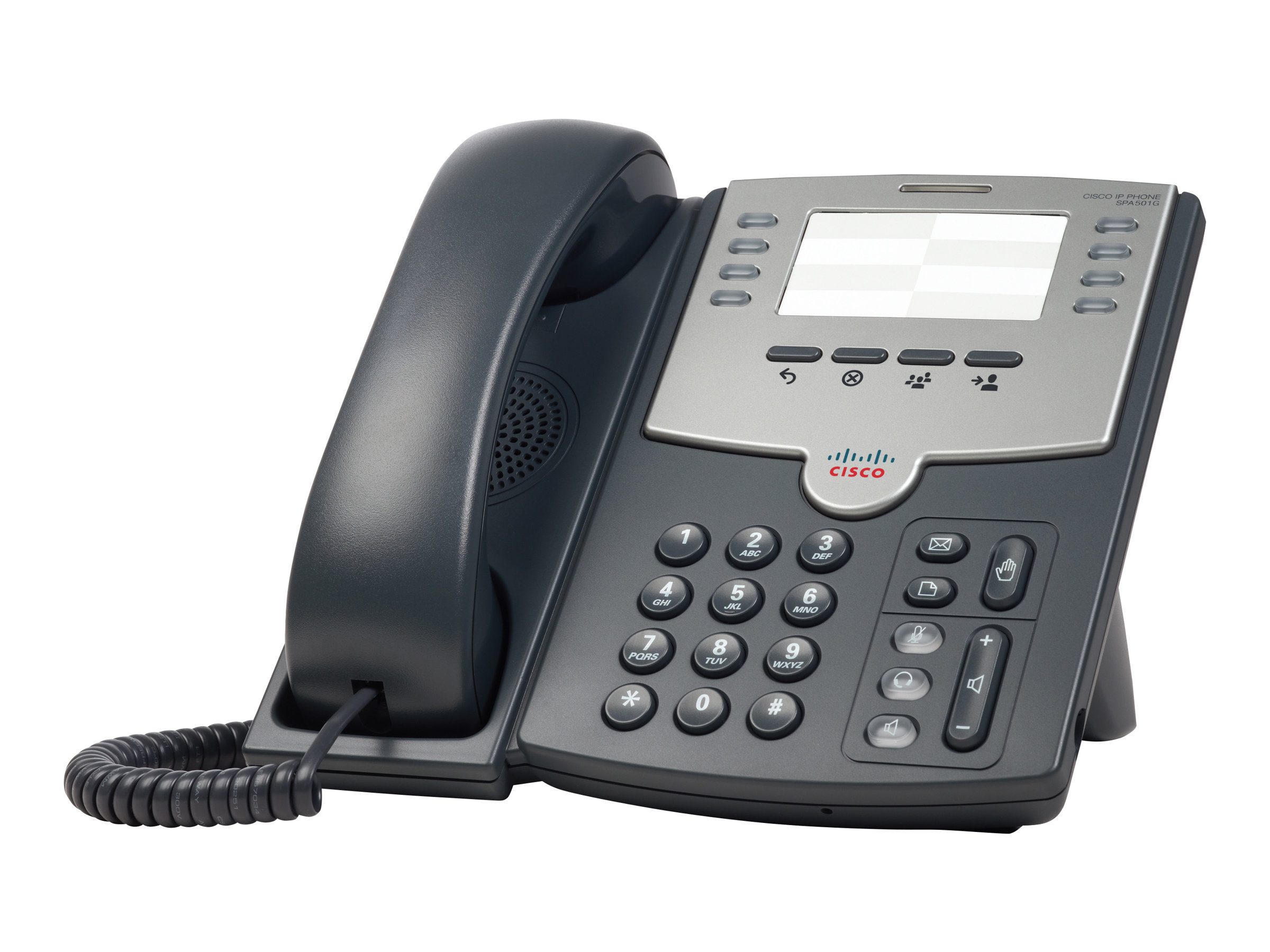 Cisco Small Business SPA 501G - VoIP-Telefon - SIP, SIP v2, SPCP - mehrere Leitungen - Silber, Dunkelgrau - für Small Business P