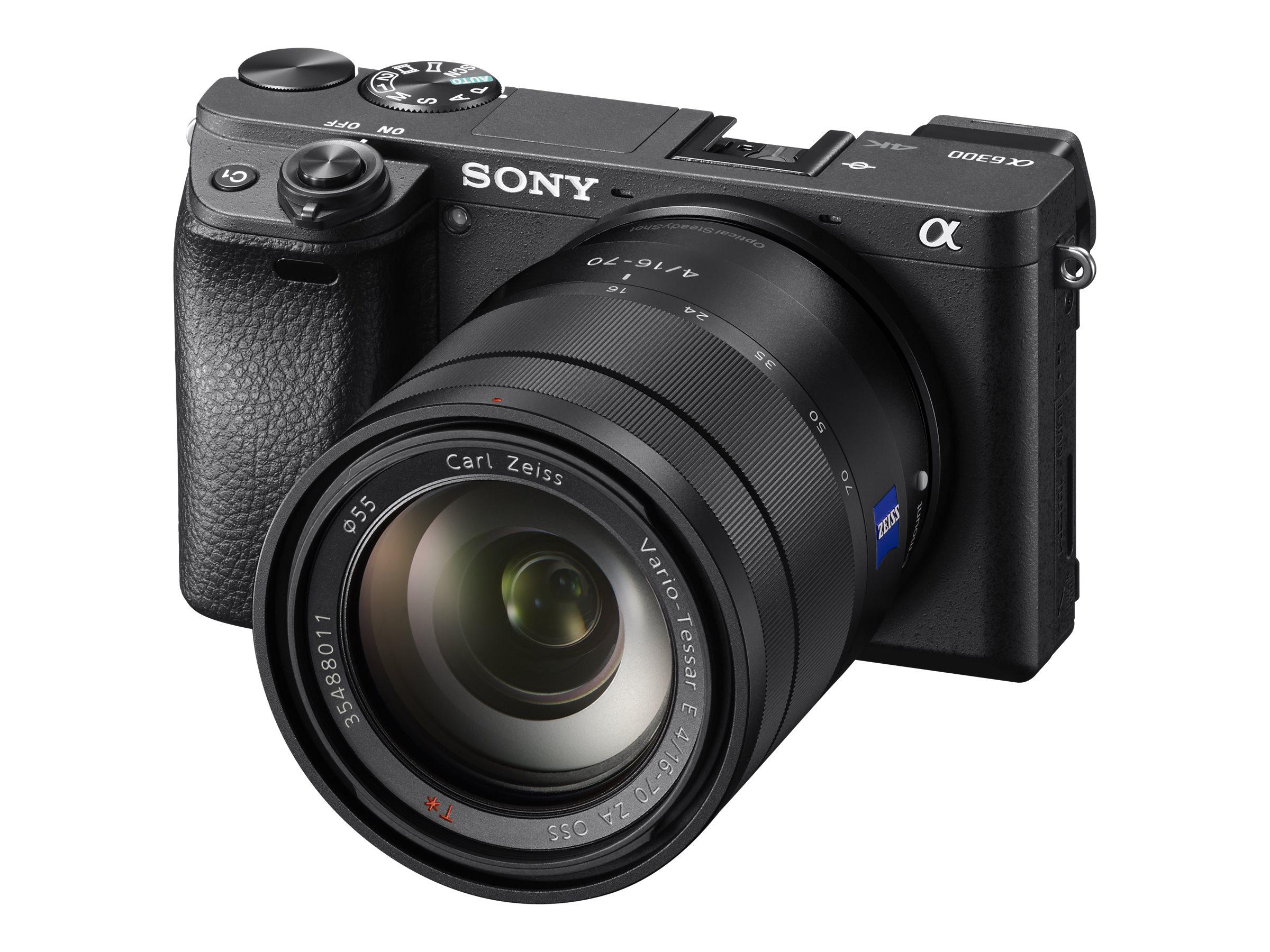 Sony a6300 ILCE-6300 - Digitalkamera - spiegellos - 24.2 MPix - APS-C - 4K / 30 BpS