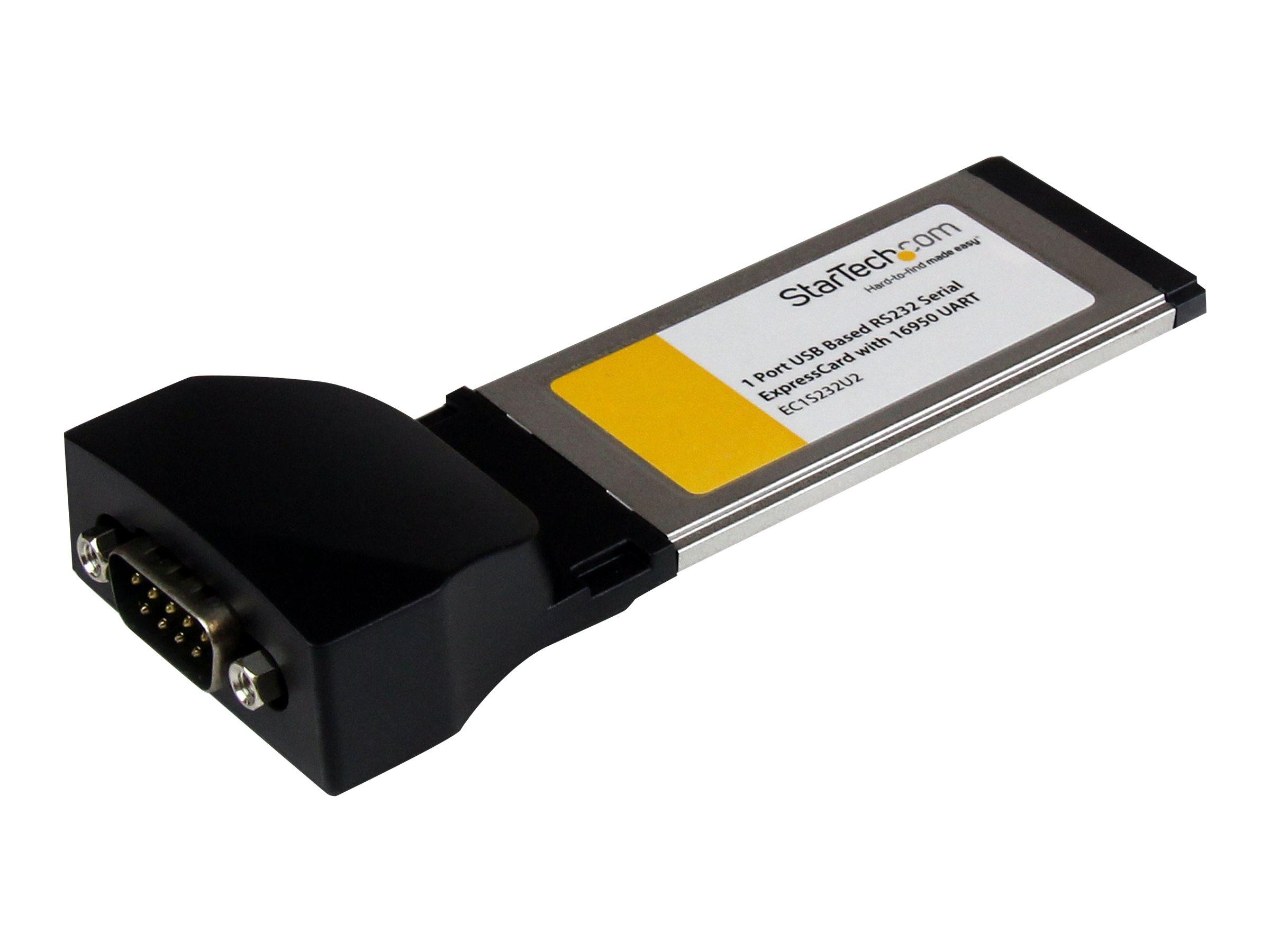 StarTech.com Serielle RS232 / DB9 Laptop ExpressCard Schnittstellenkarte mit 16950 UART - Serieller Adapter - ExpressCard - RS-2