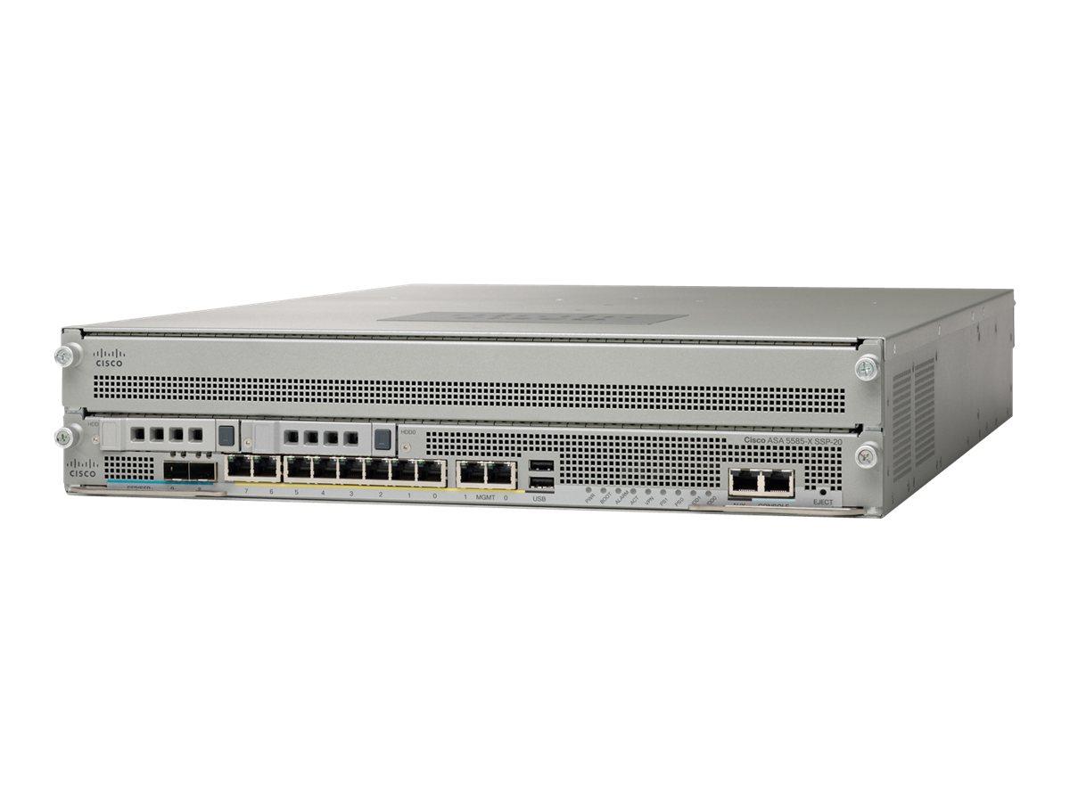 Cisco ASA 5585-X SSL/IPsec VPN Edition SSP-20 Bundle - Sicherheitsgerät - 8 Anschlüsse - GigE - 2U - Rack-montierbar