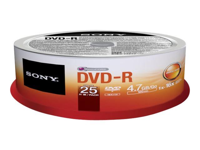 Sony DMR-47 - 25 x DVD-R - 4.7 GB - Spindel
