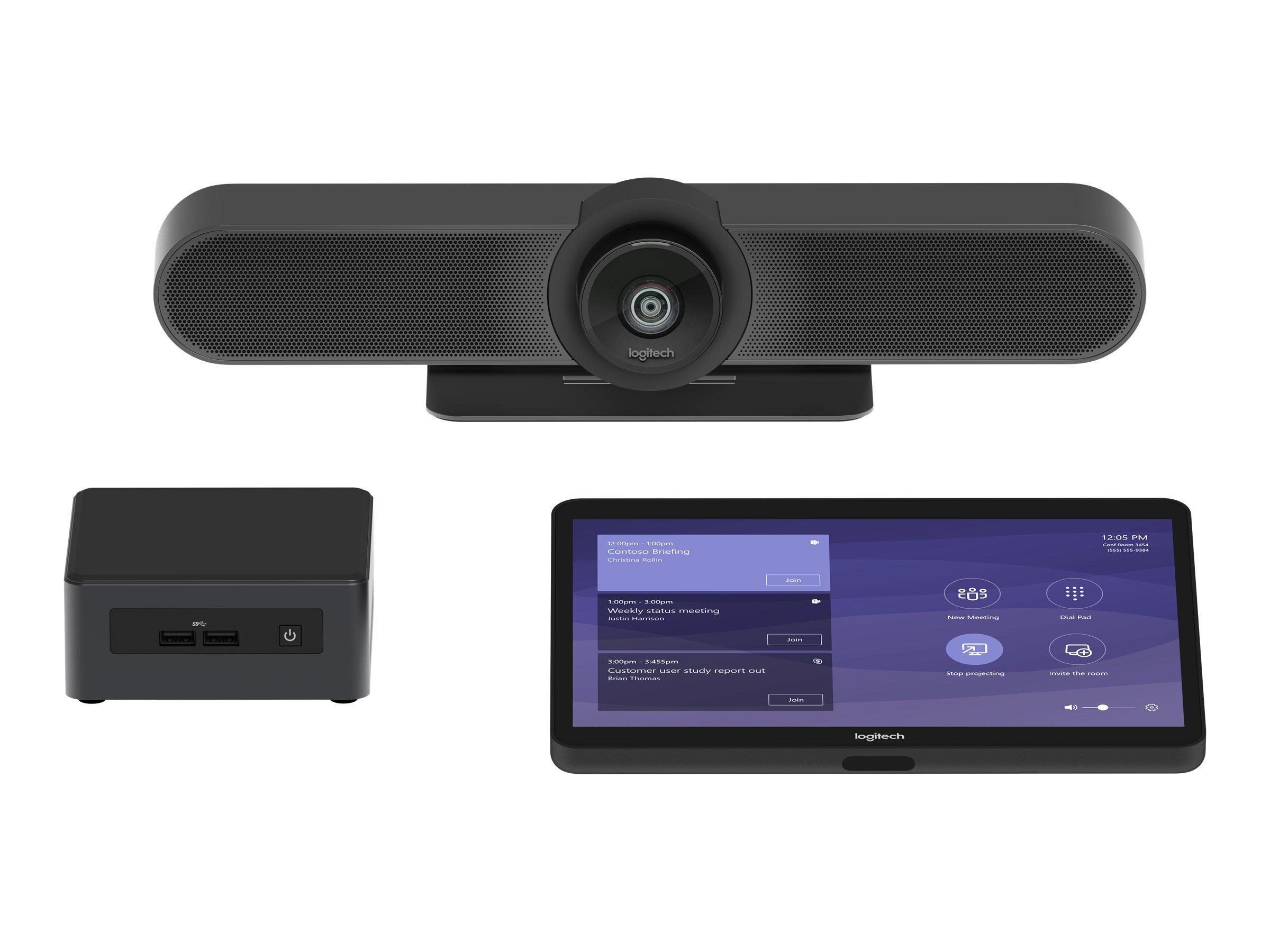 Logitech Tap Room for Microsoft Teams Rooms Small - Kit für Videokonferenzen - mit Intel NUC (i5-8259U, 8 GB RAM, 240 GB SSD), L