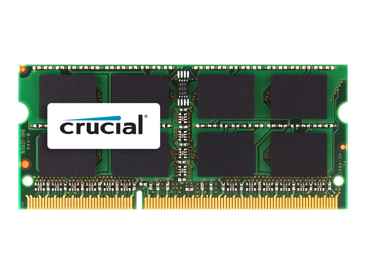 Crucial - DDR3 - 8 GB - SO DIMM 204-PIN - 1600 MHz / PC3-12800 - CL11