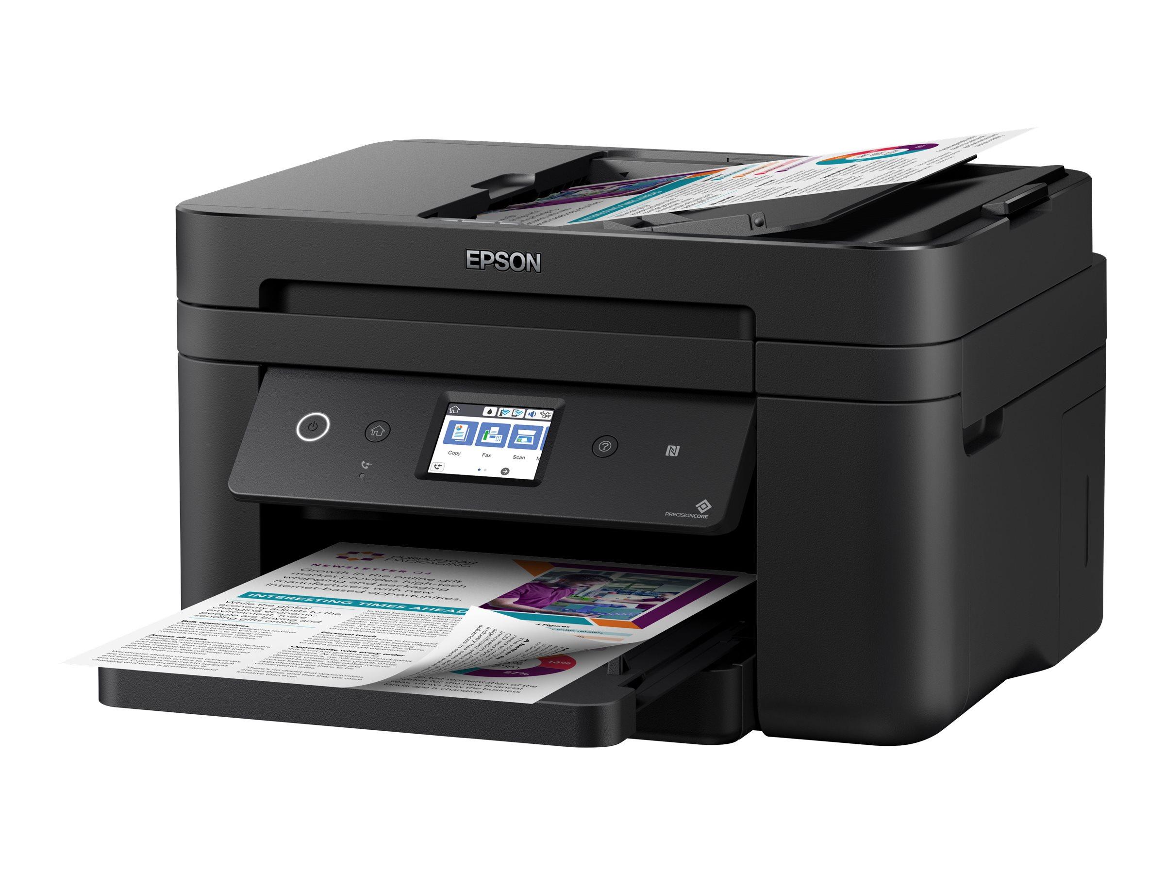 Epson WorkForce WF-2860DWF - Multifunktionsdrucker - Farbe - Tintenstrahl - A4/Legal (Medien) - bis zu 33 Seiten/Min. (Drucken)