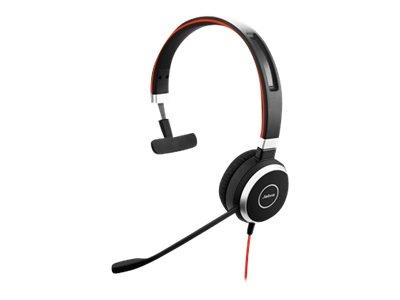 Jabra Evolve 40 MS mono - Headset - On-Ear - konvertierbar - kabelgebunden
