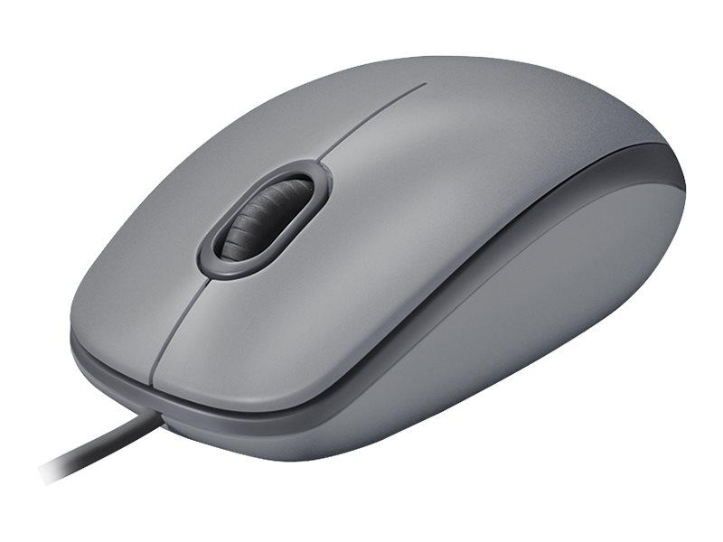 Logitech M110 Silent - Maus - rechts- und linkshändig - optisch - 3 Tasten - kabelgebunden