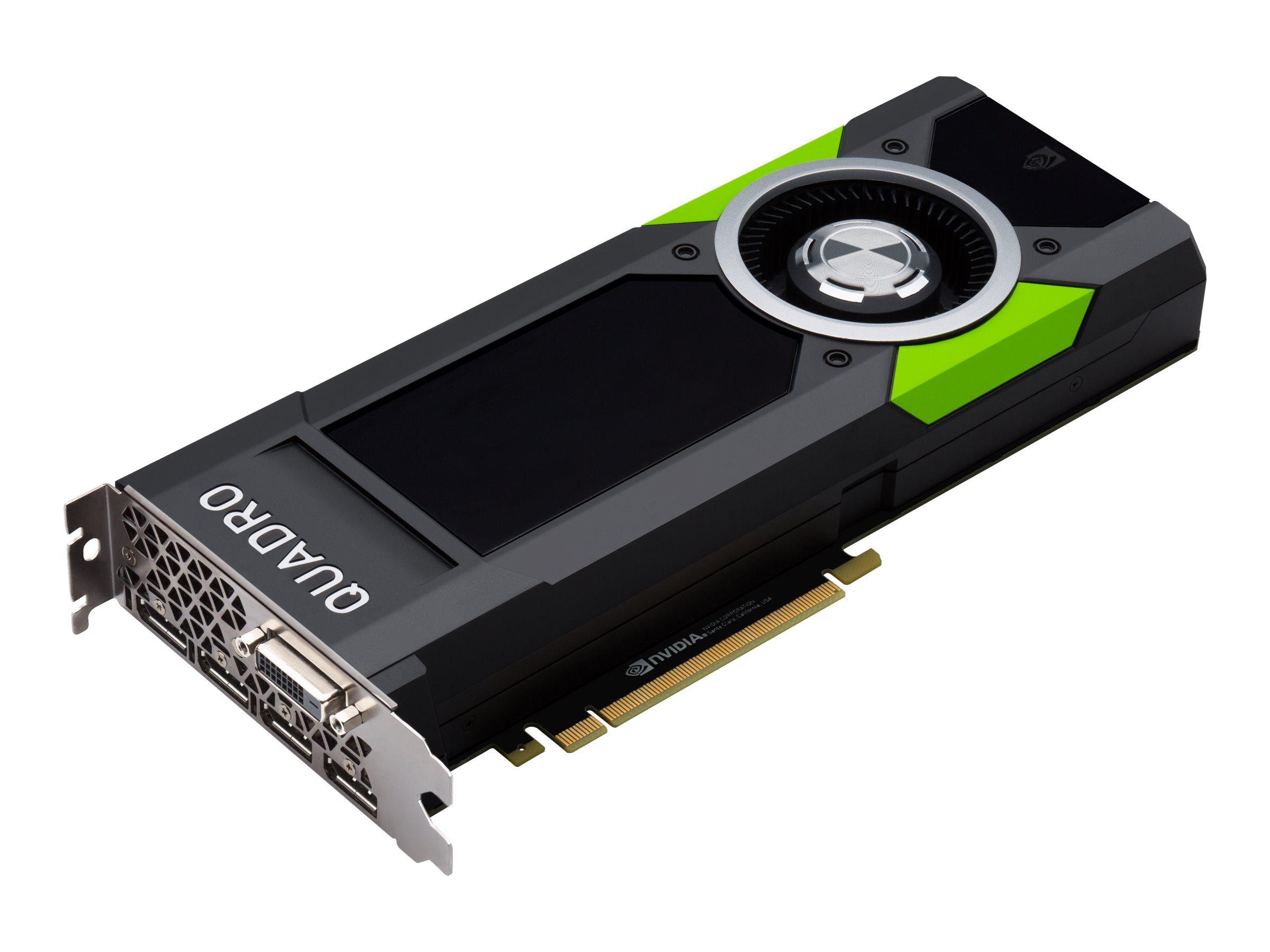 NVIDIA Quadro P5000 - Grafikkarten - Quadro P5000 - 16 GB GDDR5 - PCIe 3.0 x16 - DVI, 4 x DisplayPort