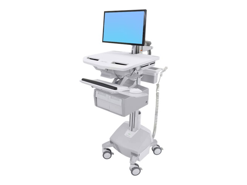 Ergotron Cart with LCD Arm, LiFe Powered, 2 Tall Drawers - Wagen für LCD-Display/Tastatur/Maus/CPU/Notebook/Barcodescanner (offe