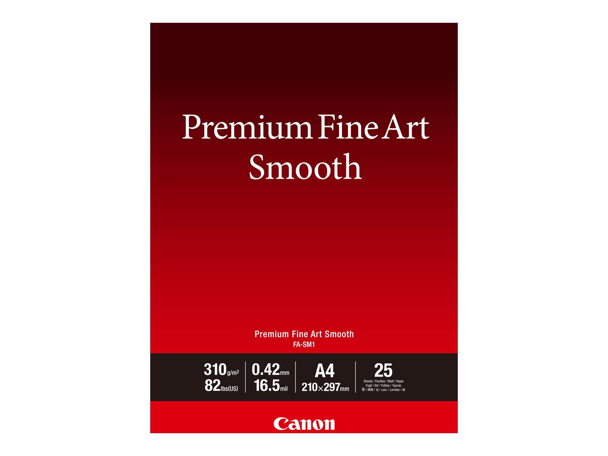 Canon Premium Fine Art Smooth FA-SM1 - Seidig - 16,5 mil - A4 (210 x 297 mm) - 310 g/m² - 25 Blatt Fotopapier