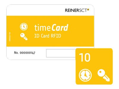 ReinerSCT timeCard ID Card RFID - RF Proximity Card (Packung mit 10)