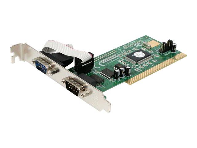 StarTech.com 2 Port RS232 Seriell PCI Schnittstellenkarte mit 16550 UART - Serieller Adapter - PCI - RS-232 x 2