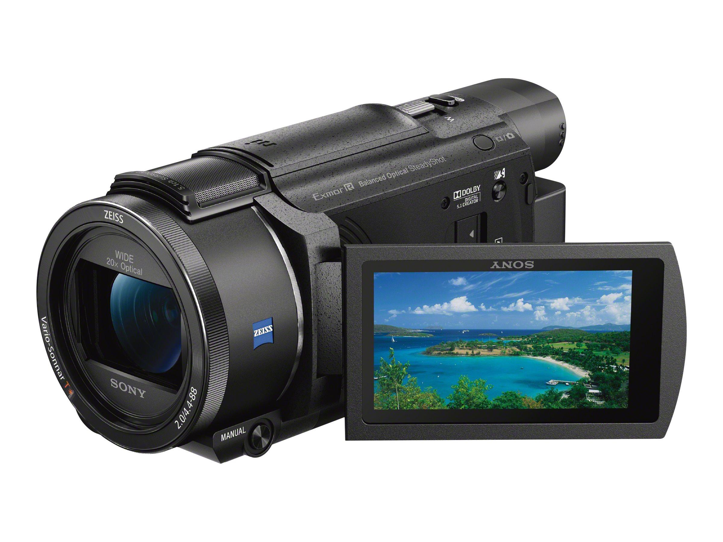 Sony Handycam FDR-AX53 - Camcorder - 4K / 30 BpS - 16.6 Mpix - 20x optischer Zoom - Carl Zeiss