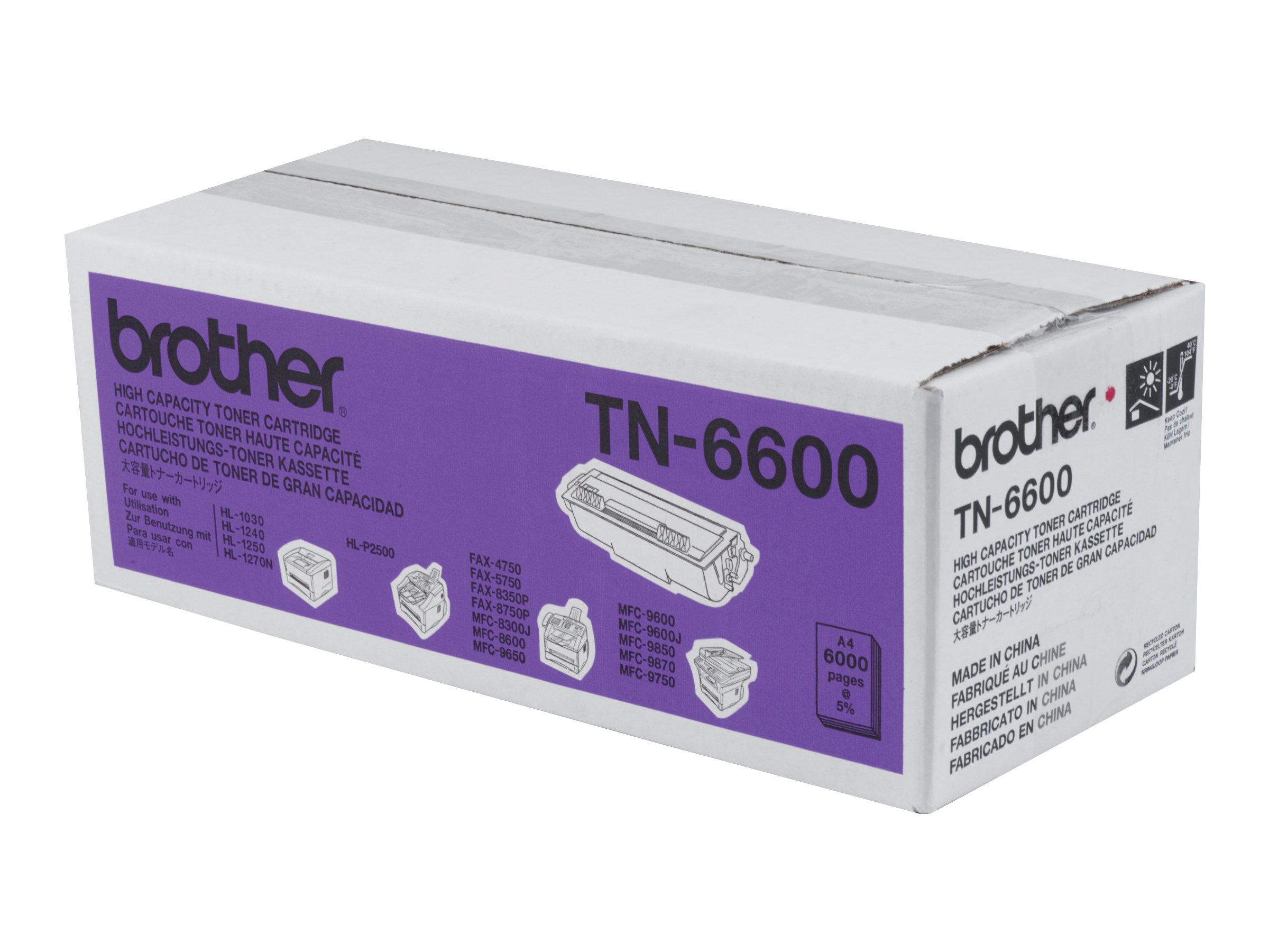 Brother TN-6600 - Schwarz - Original - Tonerpatrone - für Brother HL-1030, 1230, 1240, 1250, 1270, 1430, 1440, 1450, 1470, P2500