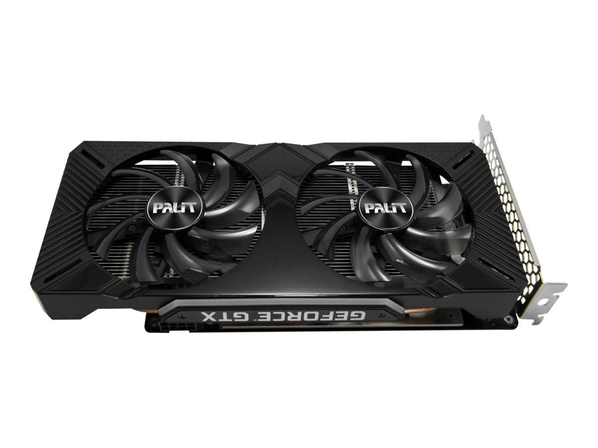 Palit GeForce GTX 1660 Ti Dual - Grafikkarten - GF GTX 1660 Ti - 6 GB GDDR5 - PCIe 3.0 x16 - DVI, HDMI, DisplayPort