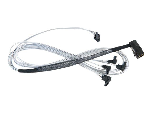 Microsemi Adaptec - Internes SAS-Kabel - mit Sidebands - SAS 6Gbit/s - 4-Lane - SATA (W) bis 4x Mini SAS HD (SFF-8643) (M)