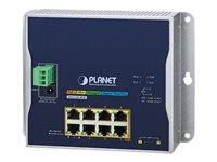 PLANET WGS-5225-8P2S - Switch - L4 - managed - 8 x 10/100/1000 (PoE+) + 2 x 100/1000/2.5G - an DIN-Schiene montierbar, wandmonti