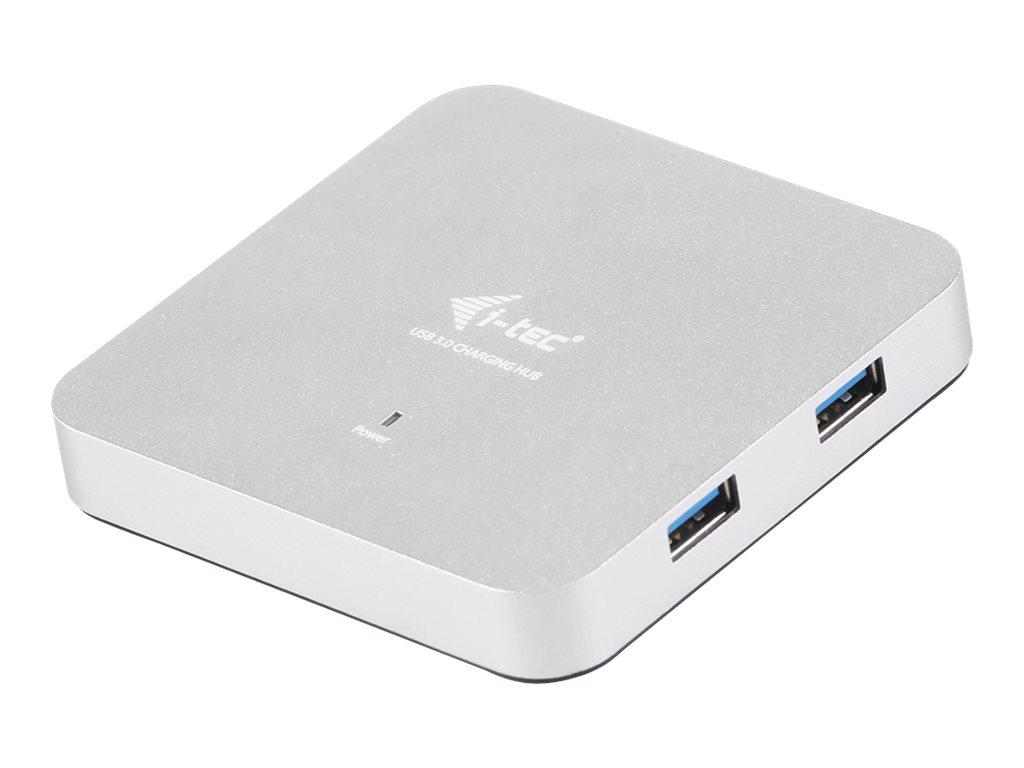 i-Tec USB 3.0 Metal Charging HUB - Hub - 4 x SuperSpeed USB 3.0 - Desktop