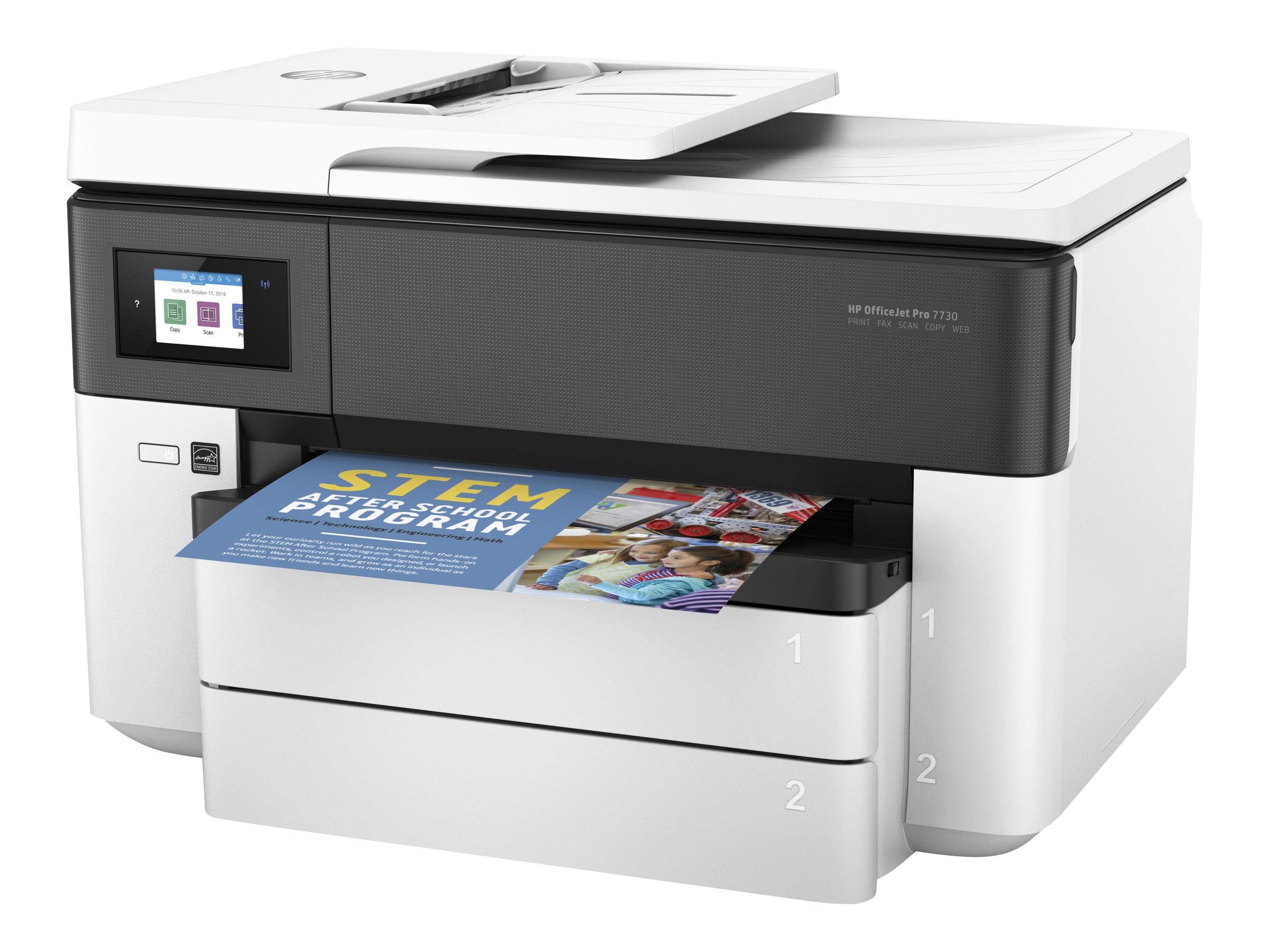 HP Officejet Pro 7730 Wide Format All-in-One - Multifunktionsdrucker - Farbe - Tintenstrahl - 216 x 356 mm (Original) - A3 (Medi