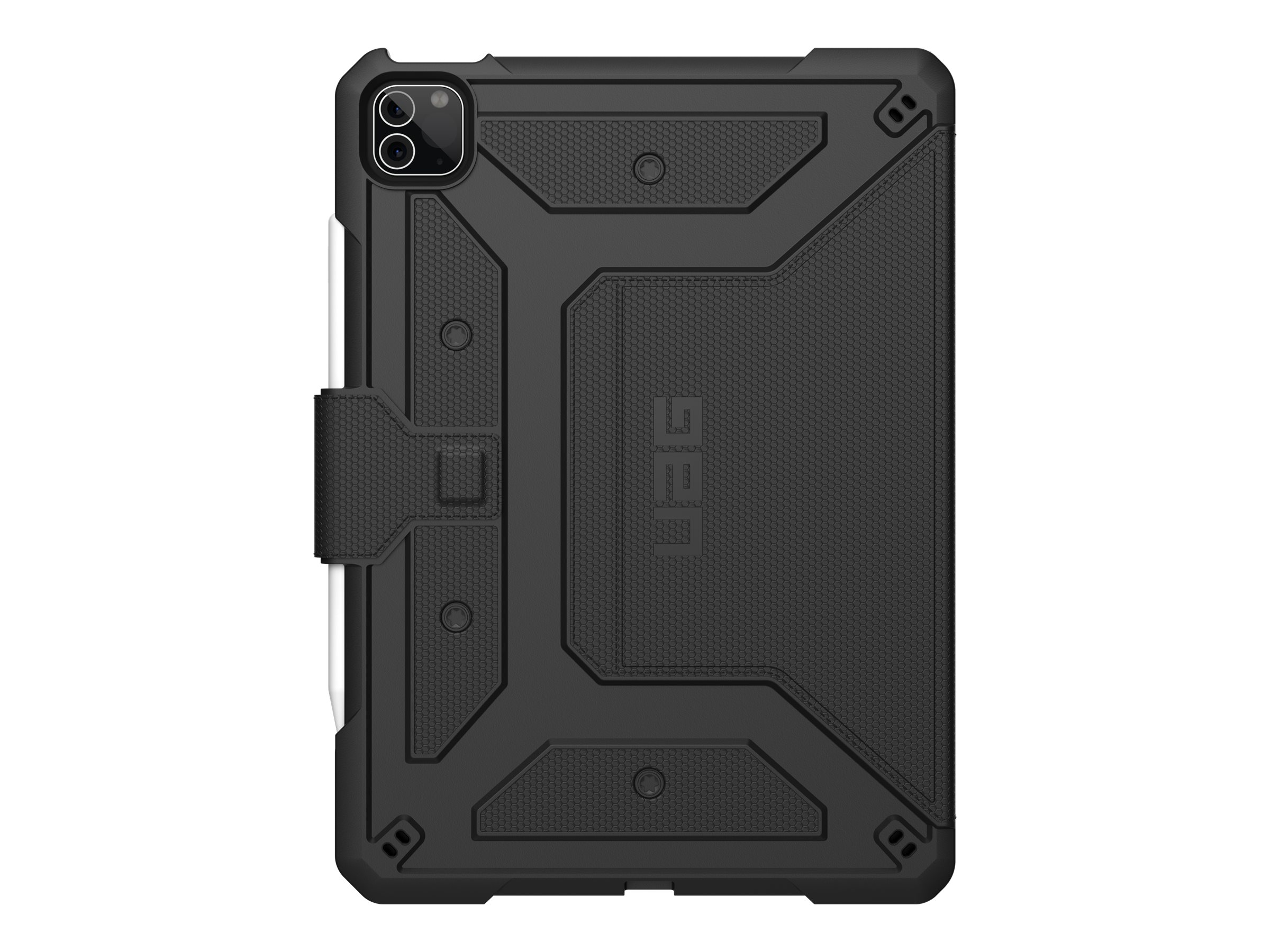 UAG Rugged Case for iPad Pro 11-in (3rd Gen, 2021) - Metropolis Black - Flip-Hülle für Tablet - widerstandsfähig - Schwarz - 27.
