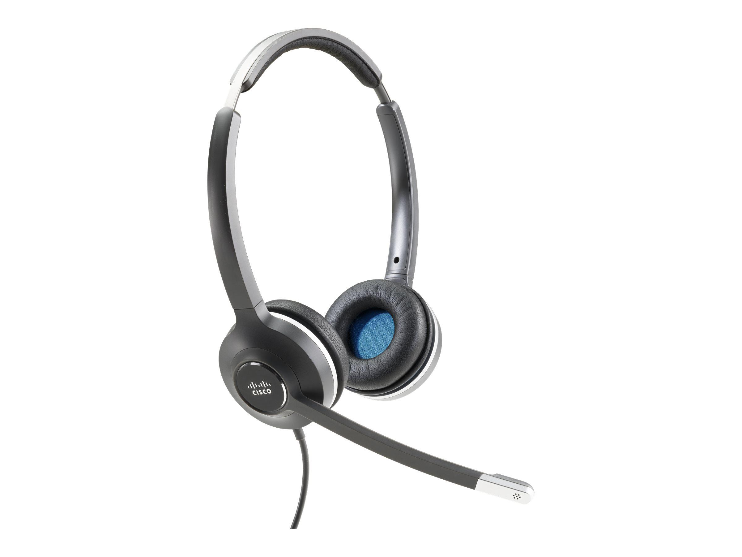 Cisco 532 Wired Dual - Headset - On-Ear - kabelgebunden - für Cisco DX70, DX70 - MSRP, DX80, DX80 (No Radio); IP Phone 8851, 886