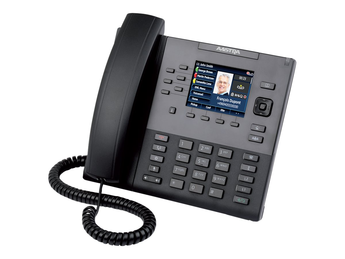 Mitel 6867 - VoIP-Telefon - dreiweg Anruffunktion - SIP, RTCP, RTP, SRTP - 9 Leitungen
