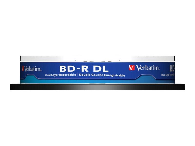 Verbatim - 10 x BD-R DL - 50 GB 6x - Spindel